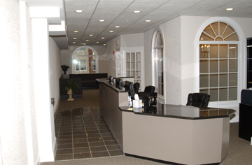 Front Desk with Waiting Area in Background